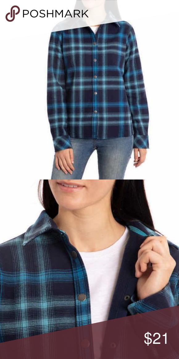 957765a69e1 Orvis Ladies Fleece Lined Shirt Jacket P025-01 Orvis Ladies Fleece Lined Shirt  Jacket P025-01 COLOR  BLUE NOVA PLAİD Soft   warm fleece bonded flannel ...