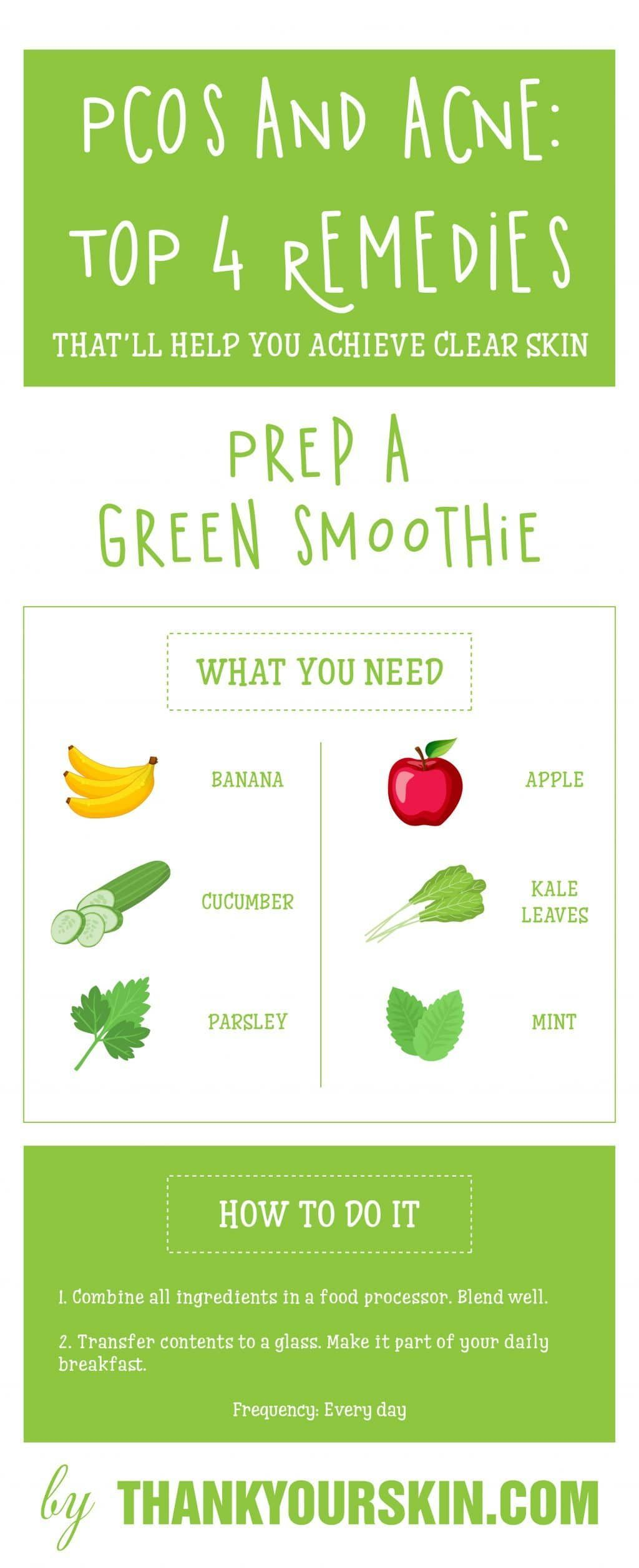 Green smoothies go a long way in helping to clear your skin diet