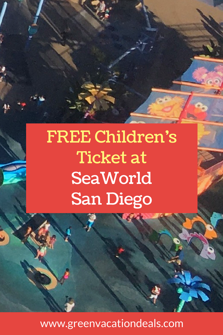 Free Children S Ticket At Seaworld San Diego Green Vacation Deals Sea World Southern California Travel Vacation Deals