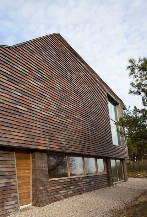 Dutch Curvature Modern House Has A Curved Construction To: Natural Materials, Sweeping Curves: Dutch Sand Dune Home