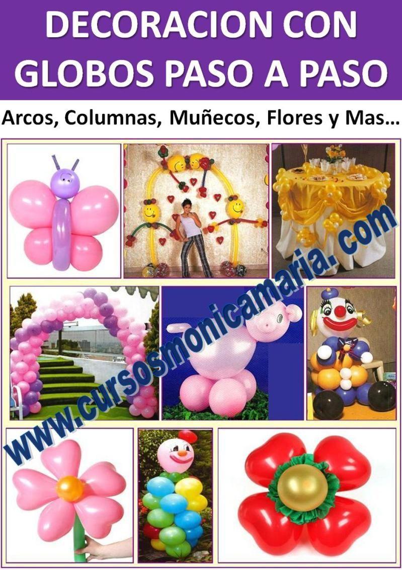 Decoracion globos bombas arcos columnas flores curso - Decoracion con biombos ...