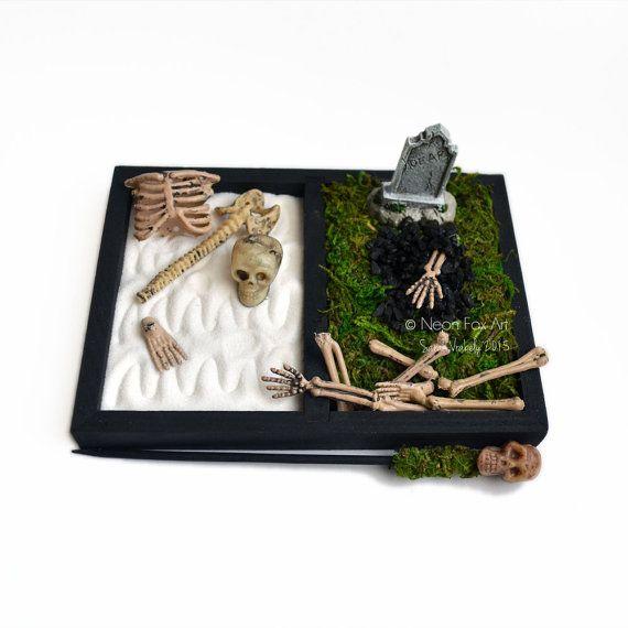 Halloween Decor   Zen Garden   Gothic Gift   Spooky   Skeleton - halloween desk decorations