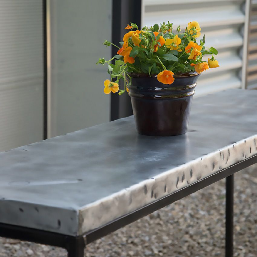 Hand Hammered Zinc Table Top Zinc Table Top Rustic Restaurant Zinc Table
