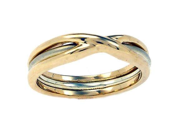 Bespoke Wedding Ring In White And Yellow Mixed Gold By Scottish