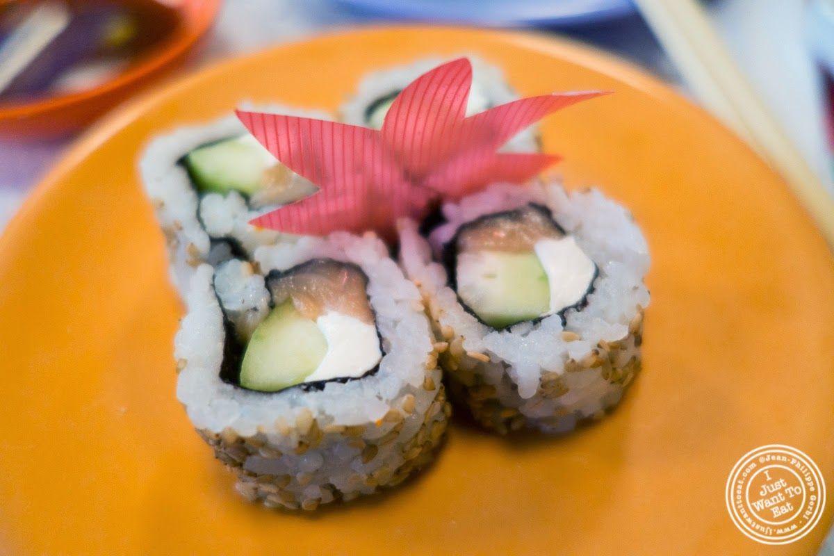 image of salmon, cream cheese, cucumber rolls at Taka Taka in New York, NY