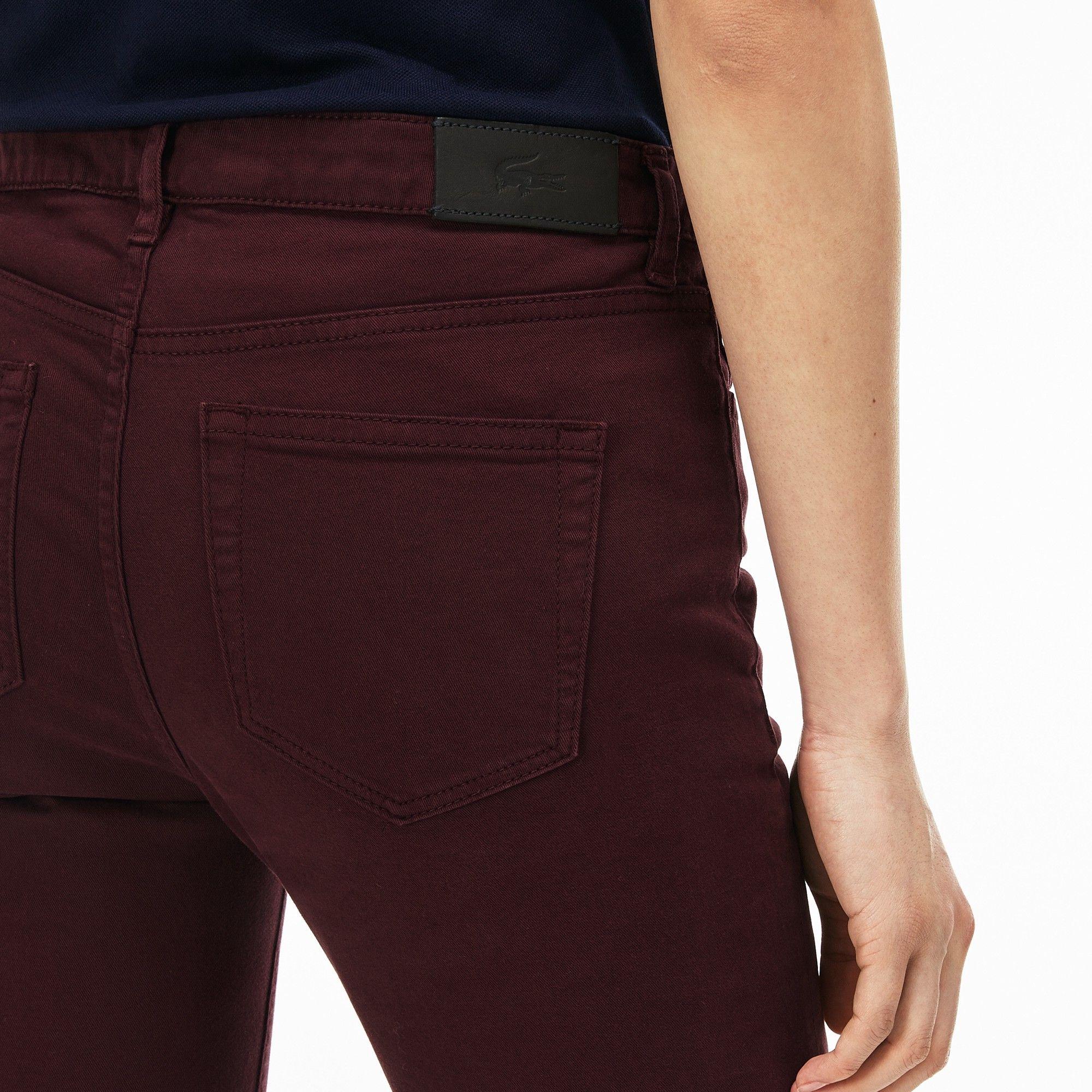 3c912bd6 Lacoste Women's Slim Fit Stretch Cotton Denim Jeans - Vendange 26 ...