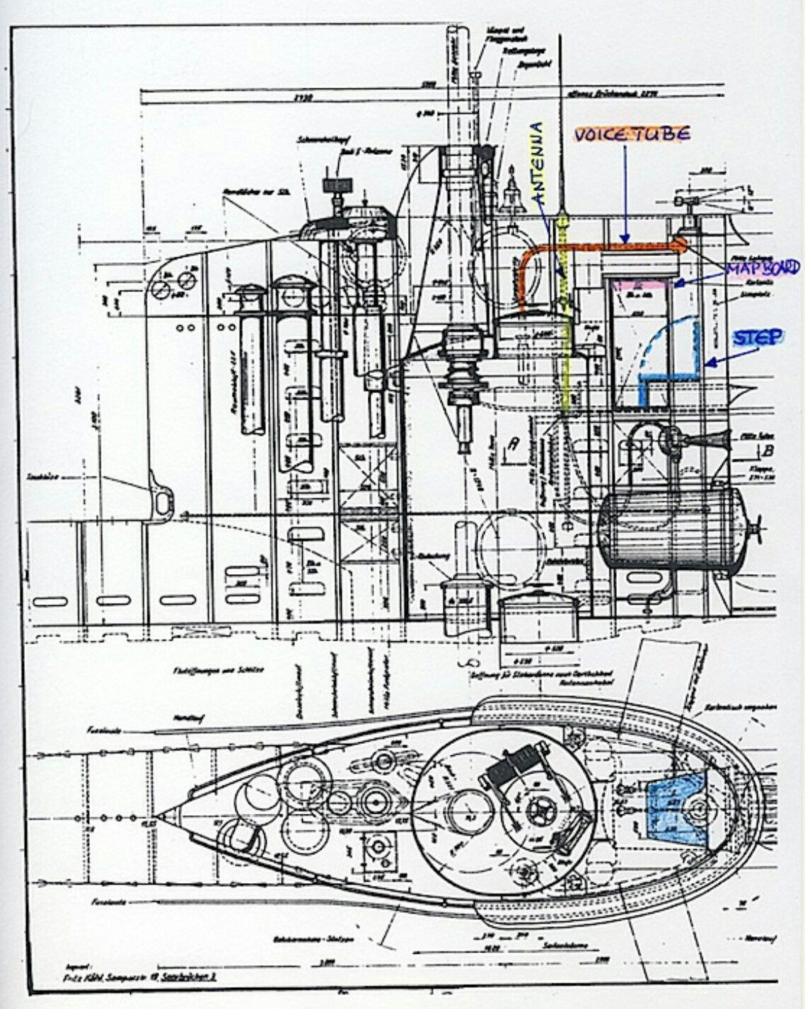 u boat type xxiii tower ponorky german type xxiii u boat diagram [ 1138 x 1427 Pixel ]