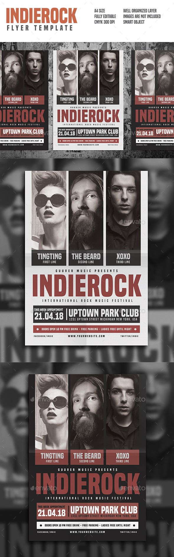 Indie Rock Flyer | Event flyers, Indie and Flyer template