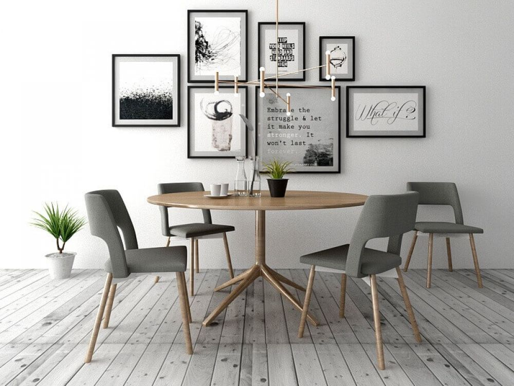 Simple Dining Room 3d Model Kitchen Room Dining Room
