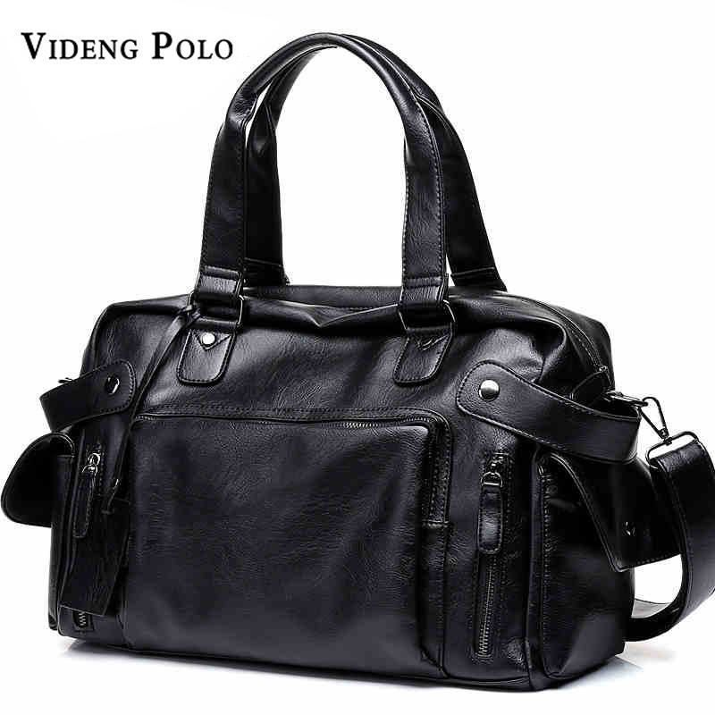 VIDENG POLO Brand High Quality Men Travel Bag Leather leisure Male Handbag  Vinta 949c508a3b730