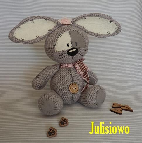 Photo of Bunny like a Fizzy Moon. Endlessly pals.Crochet PDF sample