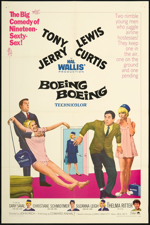 BOEING BOEING (1965) - Tony Curtis - Jerry Lewis - Paramount - Movie ...