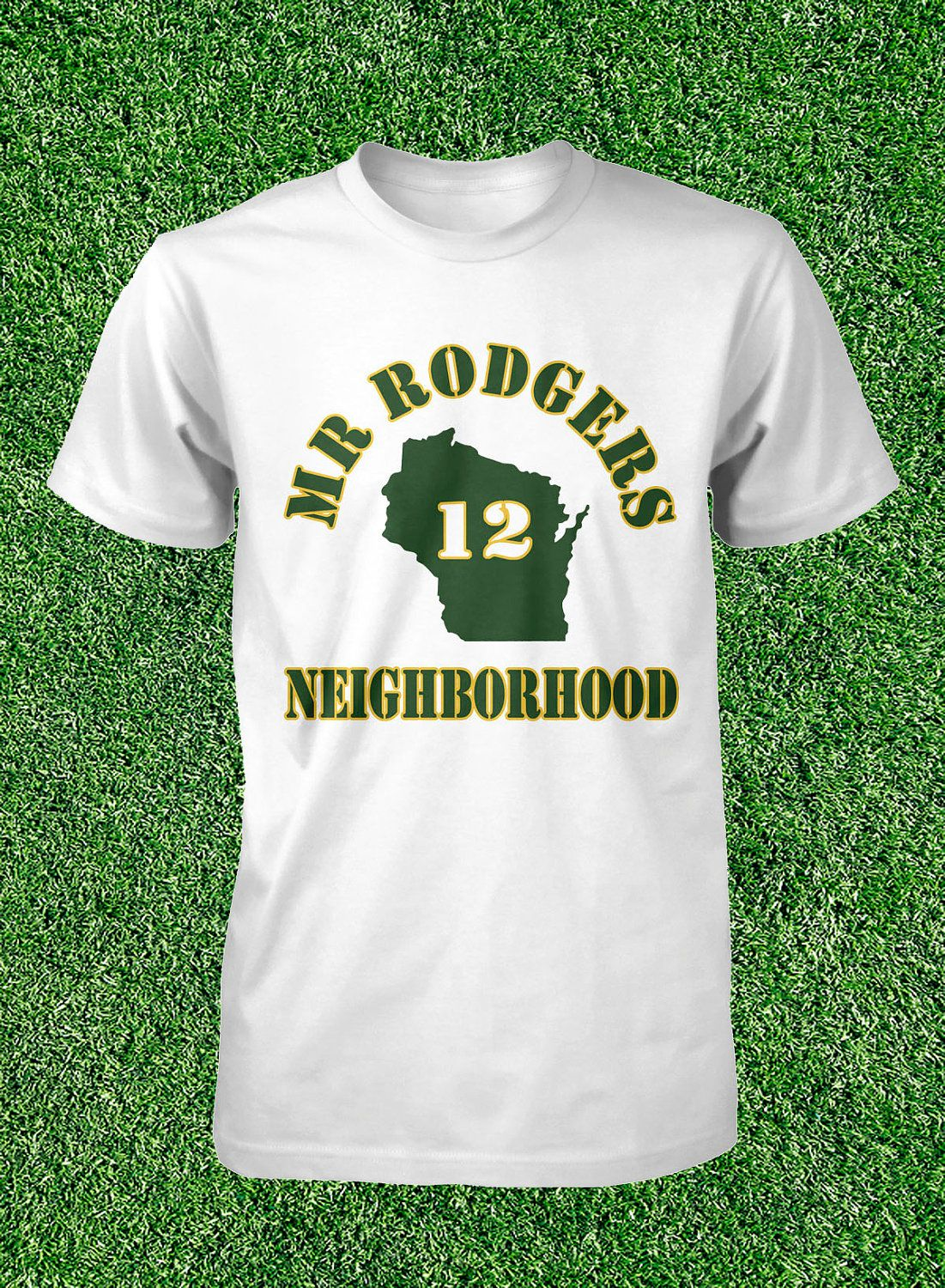 Mr Rodgers Neighborhood T Shirt Aaron Rodgers Green Bay Packers Mens Size S  M L XL Cotton Short Sleeve.  14.99 ecb2a09e0