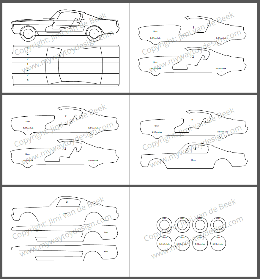 Download Free Scroll Saw Plans For Diy Wooden Toy Car My Way Toy Design Toys Design Wooden Toy Cars Wood Toys Plans Wooden Toys Plans