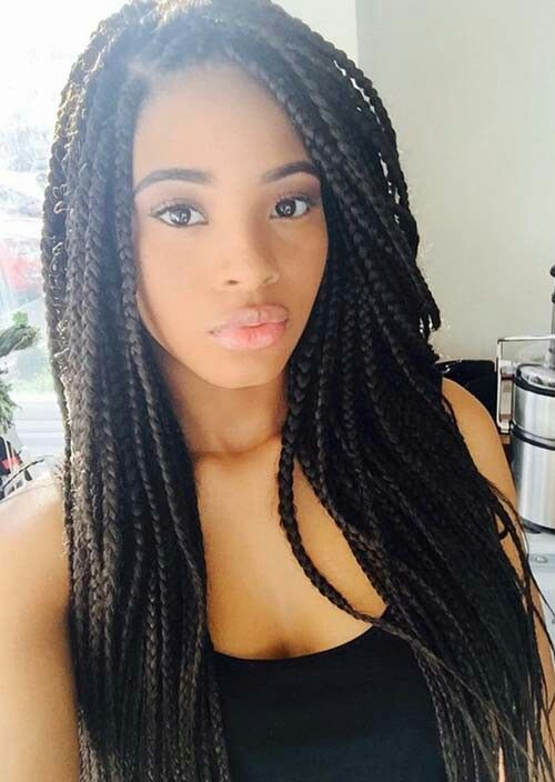 Medium Sized Box Braids Hair Styles Braids For Black Hair African Braids Hairstyles