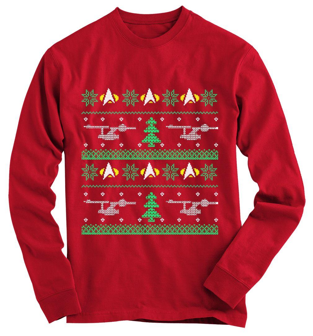 Star Trek Ugly Christmas Sweater   Star trek, Trek and Star