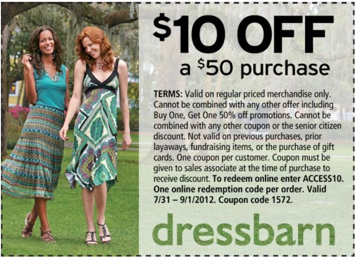 photograph about Dress Barn Printable Coupon identify Costume Barn 10 off 50+ every month-priced acquire. [Exp 9/1