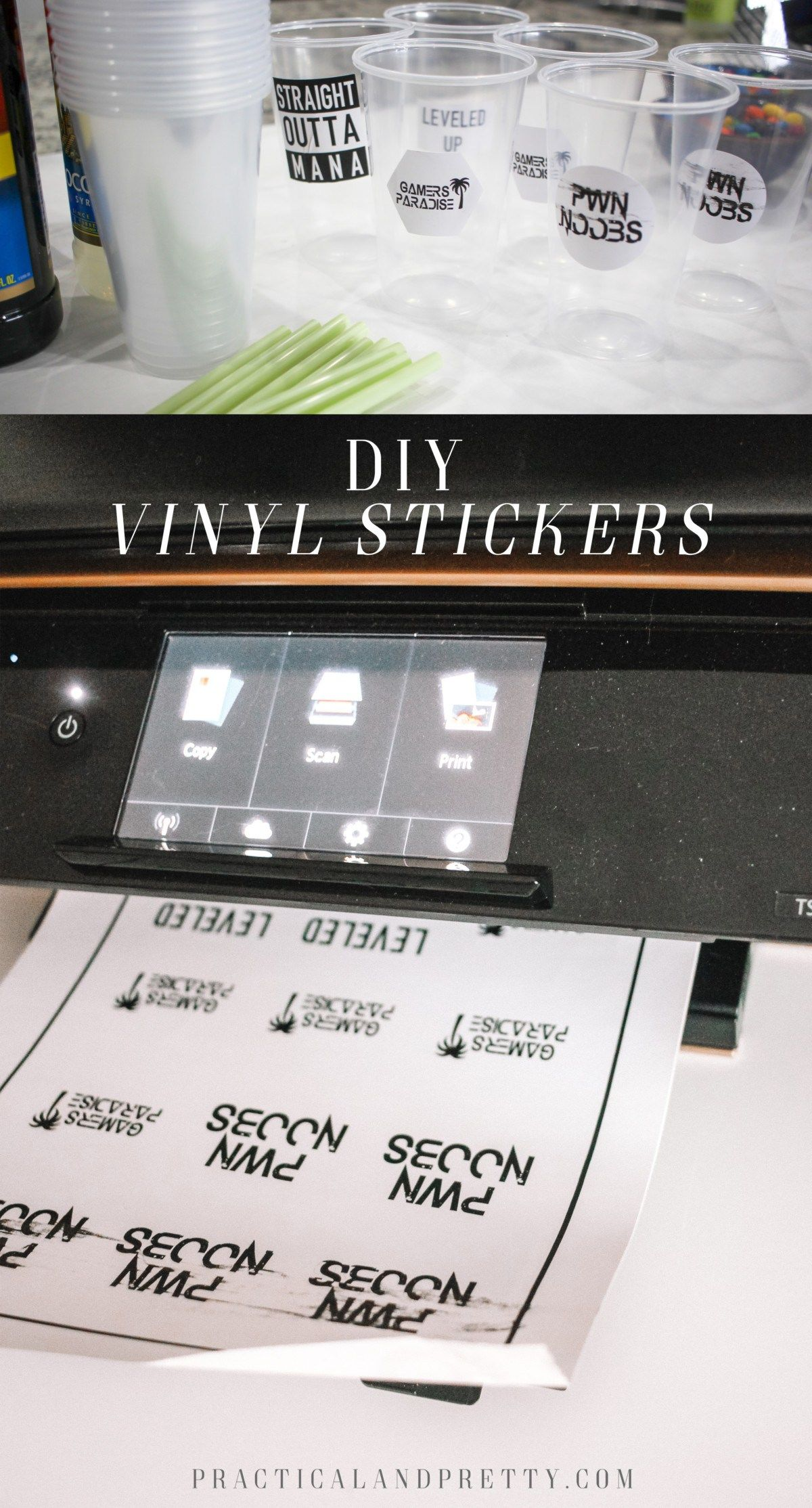 Making custom stickers is really simple with printable vinyl and ill walk you through each step so you can do it all at home for yourself