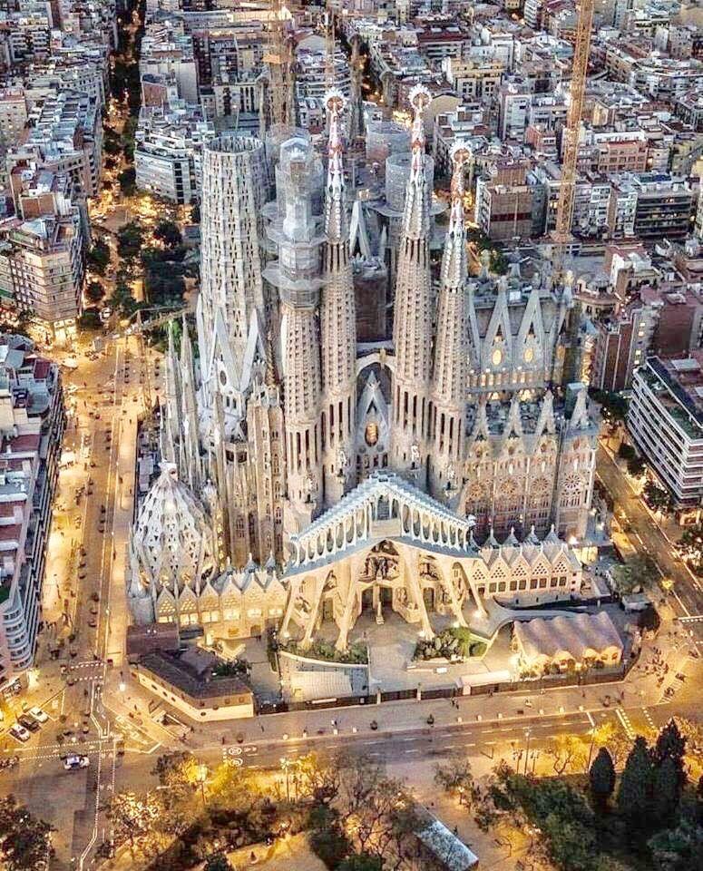 Sagrada Familia Barcelona Spain Barcelona Spanje Spanje Kathedraal
