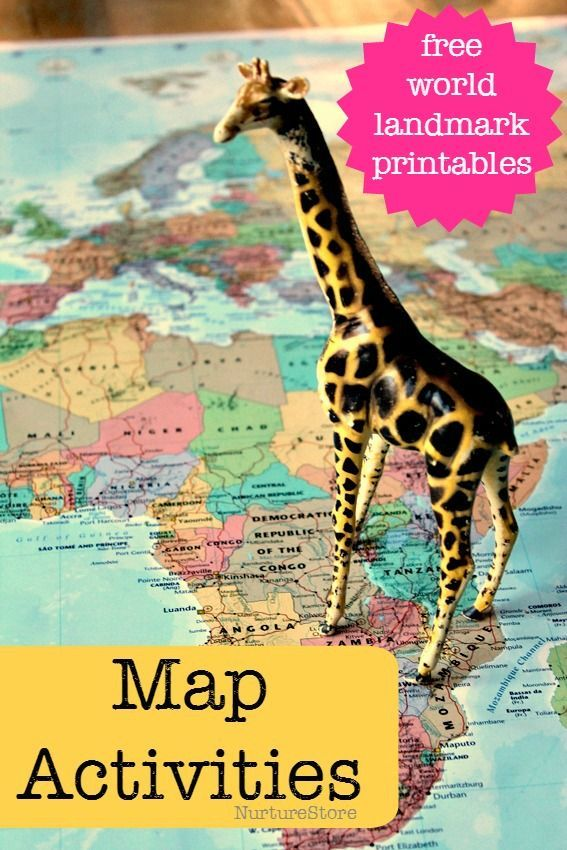 Geo literacy world map activities for kids manualidades nios gumiabroncs Gallery