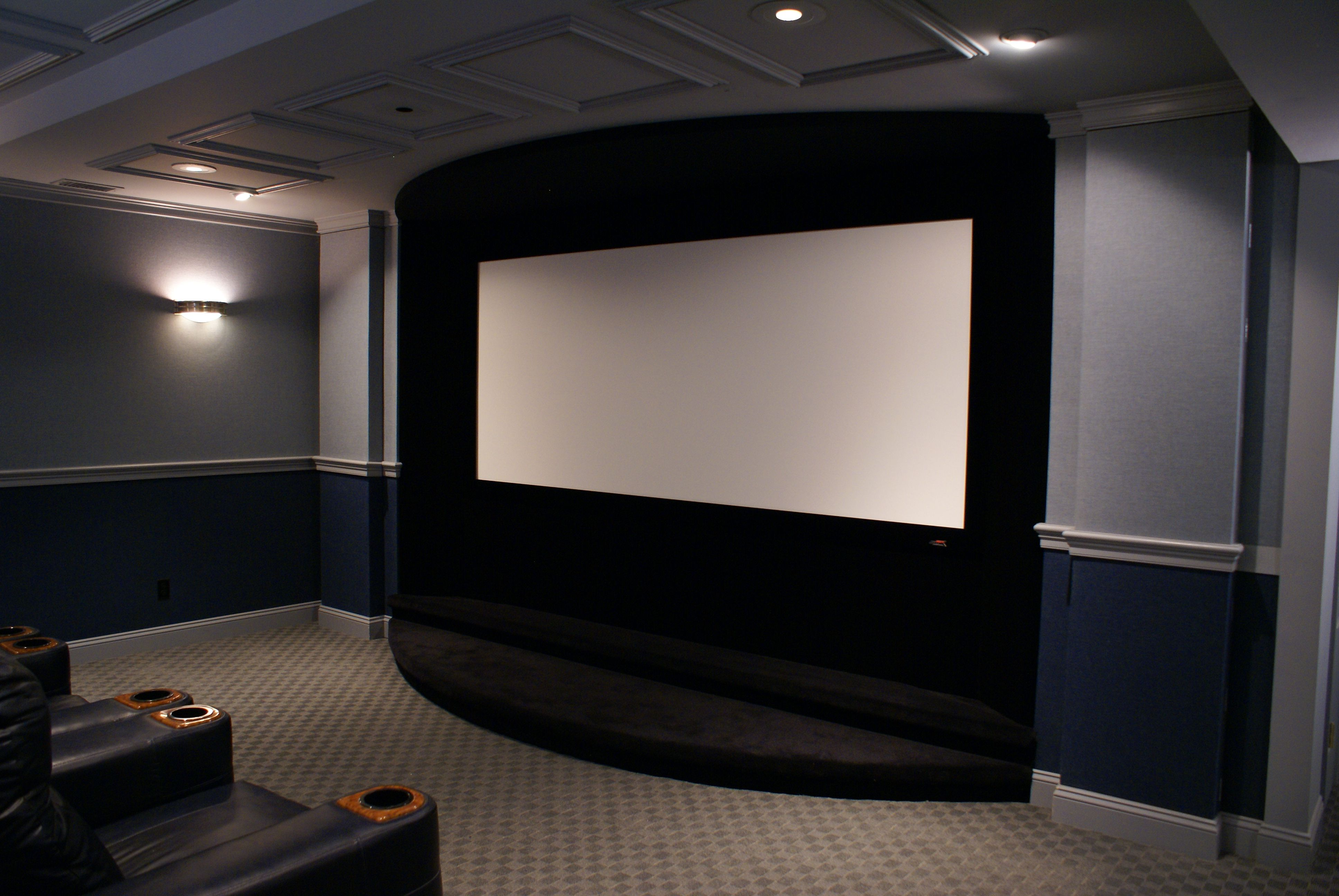 Minimalist Approach To Screen Wall Avs Forum Home Theater What Does Your Wiring Cabinet Look Like Discussions And Reviews