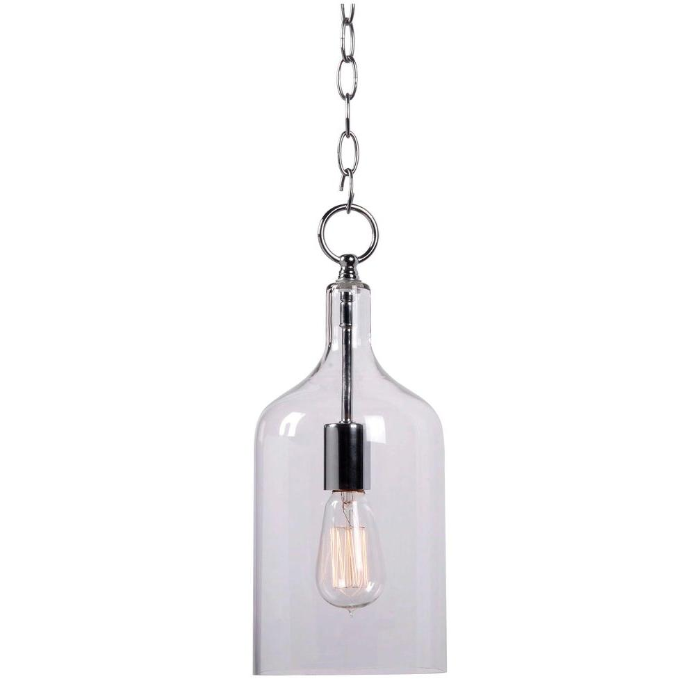 Capri 1 Light Clear Glass Mini Pendant 91831clr Glass Pendant