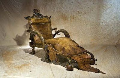 Michel Haillard captain hook dreams of this chair: michel haillard alligator chair