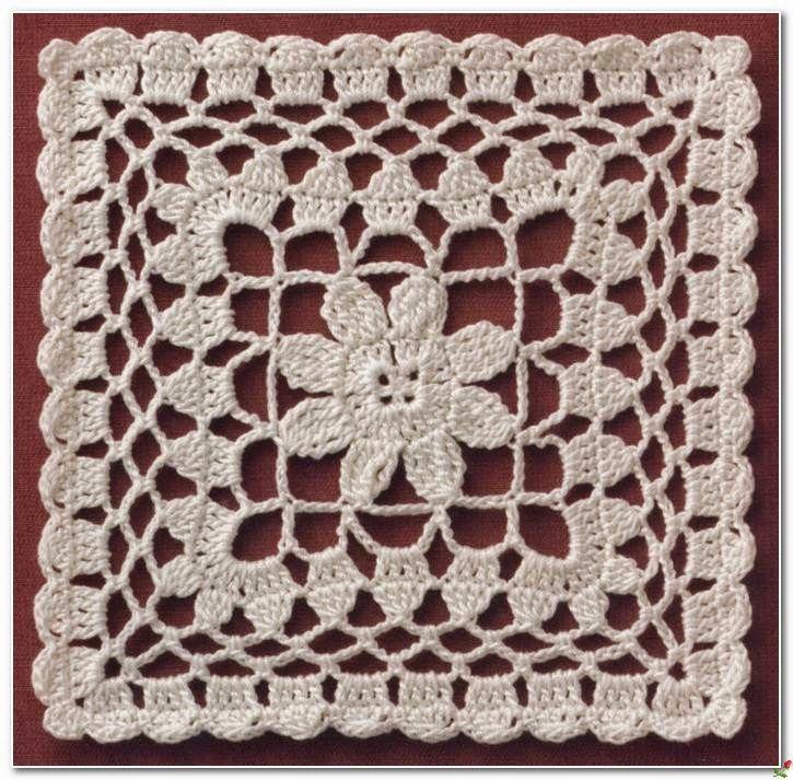 Croche Crochet Square Motif Crochet Pinterest Crochet