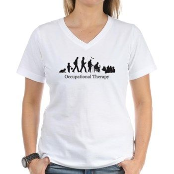 bdbc9e9b Occupational Therapy Women's V-Neck T-Shirt for | It's an OT thing ...