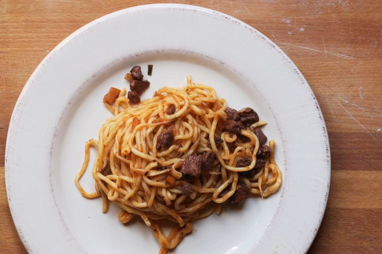Spaghetti a la Chitarra - A classic dish from Abruzzo, named after the guitar-like instrument used to make it.