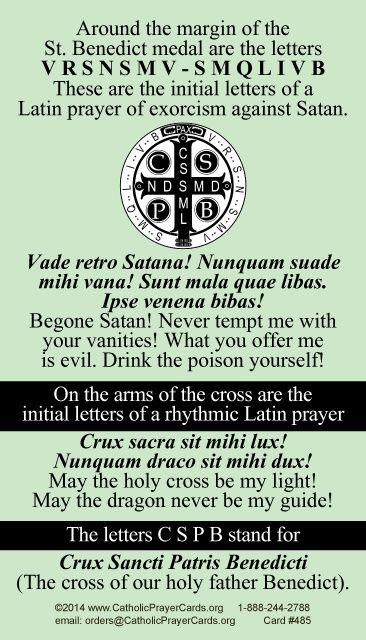 St  Benedict Medal Prayer Card | Bible | St benedict prayer