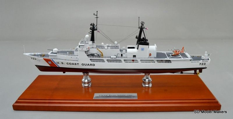 "18""replica model of USCGC Rush WHEC-723. SD Model Makers offers made-to-order ship models in ANY size or scale. Contact us for a quote - www.sdmodelmakers.com"