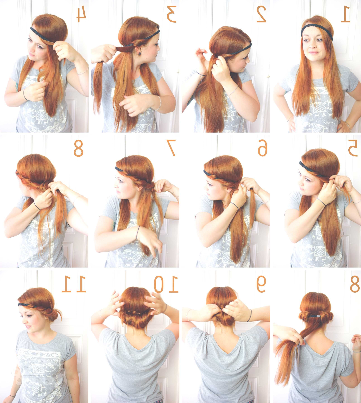 Pin Von Sophia Auf Hair Haarband Frisur Schulterlange Haare