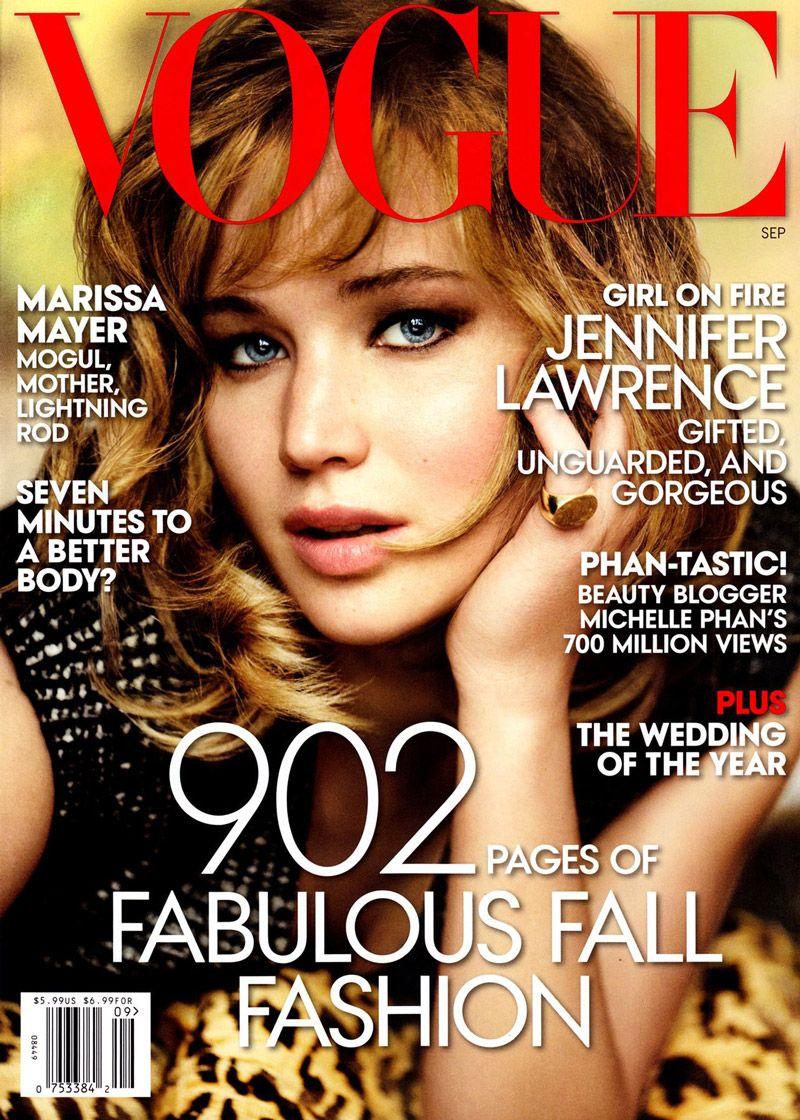 Jennifer Lawrence Gets Her Close-up for Vogue\'s September 2013 Cover ...