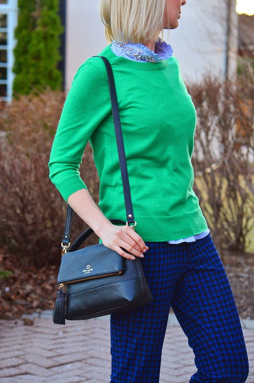 b26e4e64197 Preppy Office Style in OldNavy Printed Pants