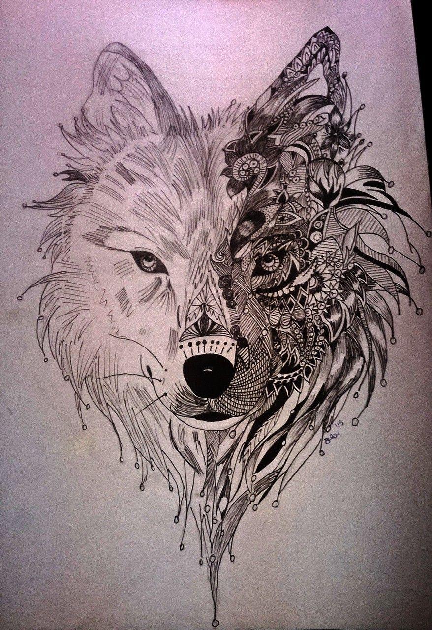 Idees De Tatouage Loup Mandala En 2020 Loup Mandala Tatouage