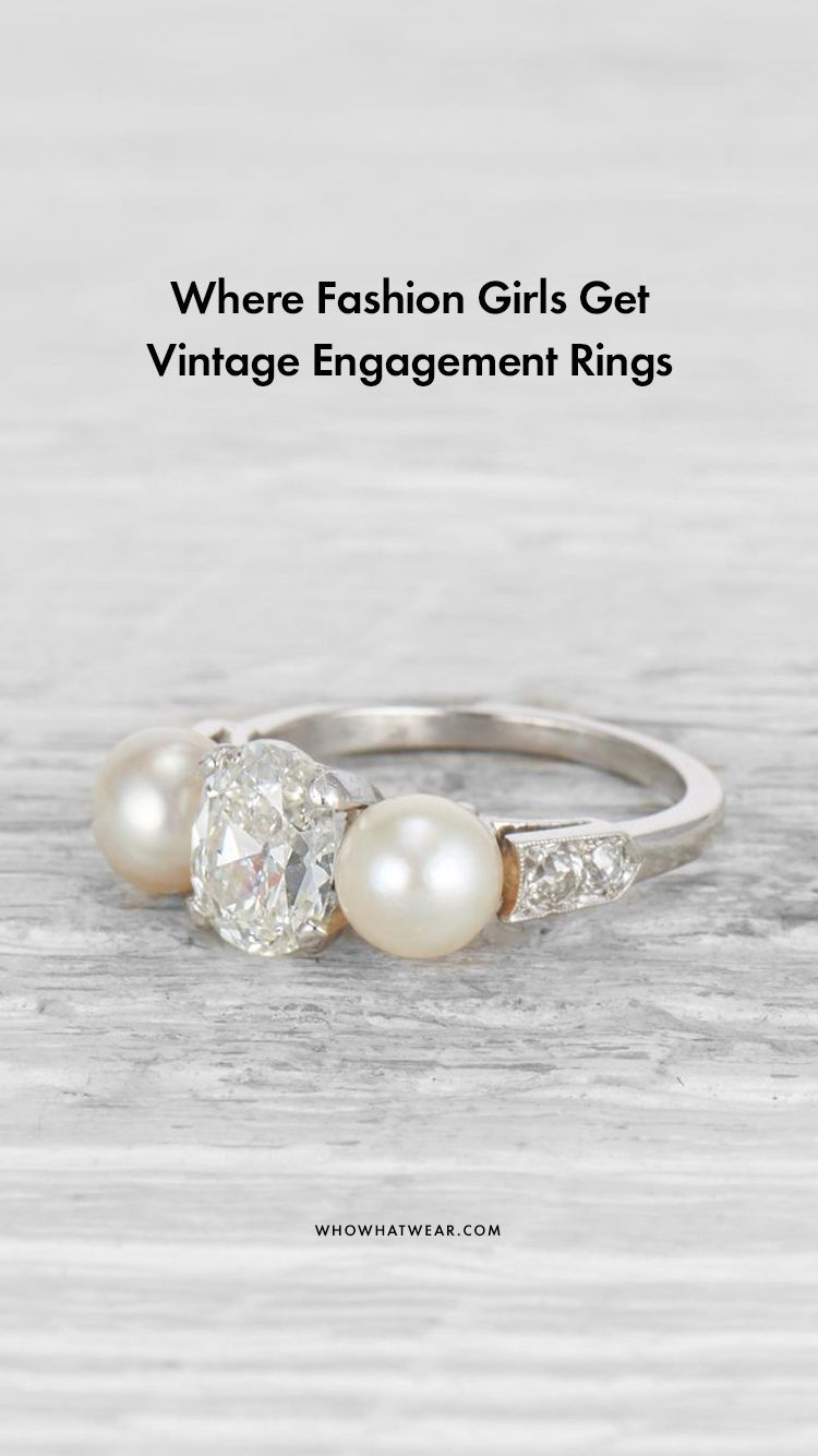 Where fashion girls get vintage engagement rings in accessory