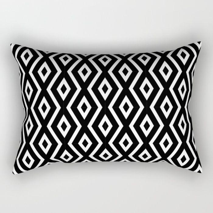 Black & White Pattern Rectangular Pillow