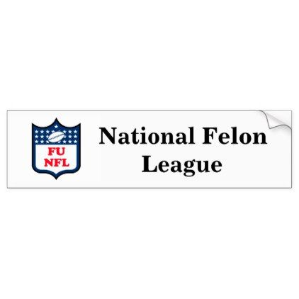 Nfl national felon league bumper sticker diy cyo customize create your own personalize