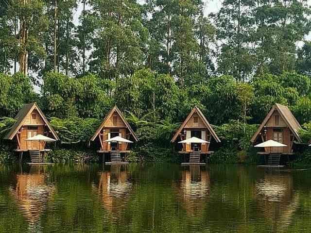 Dusun Bambu Family Leisure Park Rumah Hutan Arsitektur Rumah Pohon