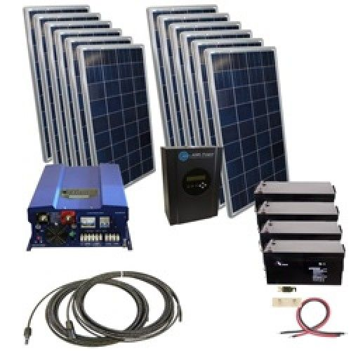 Off Grid 10kw Pv System Kit For Whole House Cabin Solar Kit Solar Heating Solar Power Diy