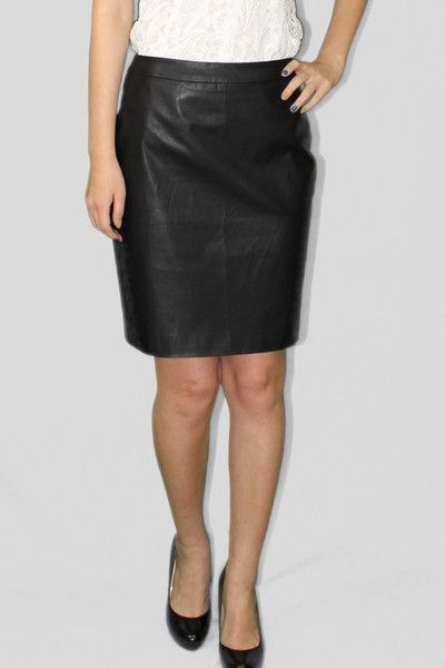 Black leather skirt from Sheez Petite Pencil Skirts for Petites ...