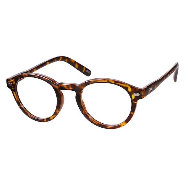 5cf31b6552e Zenni Round Prescription Eyeglasses Tortoiseshell Other Plastic 125525
