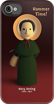 Mary Anning - Hammer Time! Cartoon Character by Chayground