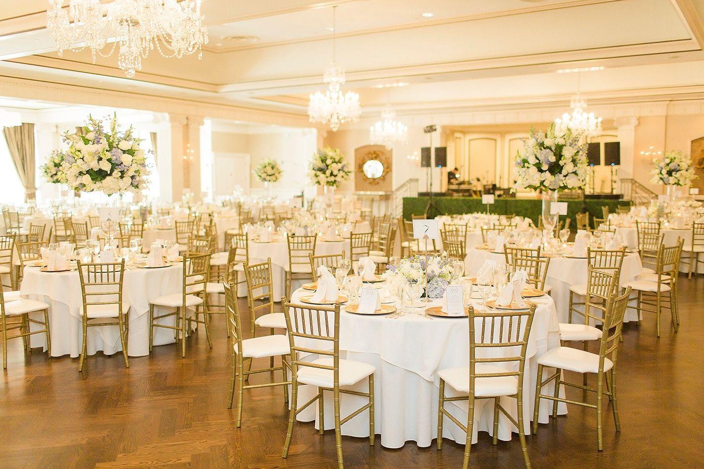 Houston Wedding Lakeside Country Club Ballroom White And Blue