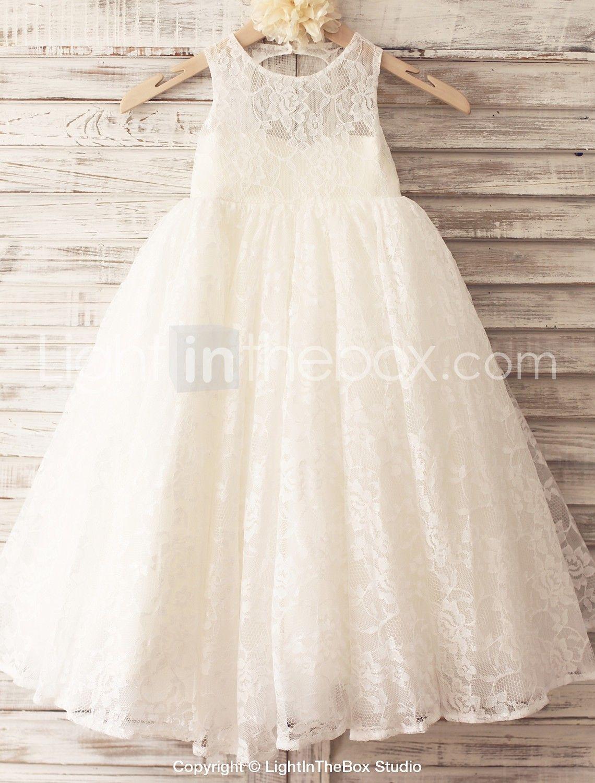 Princess floor length flower girl dress lace tulle sleeveless