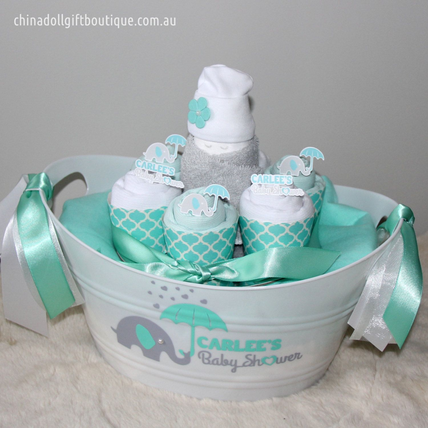 Baby shower gift basket small personalised baby boy newborn baby shower gift basket small personalised baby boy newborn gift gift for mum negle Gallery