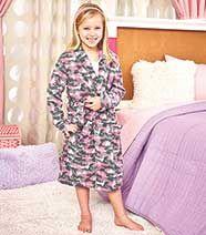 Kids' Fleece Camo Robes