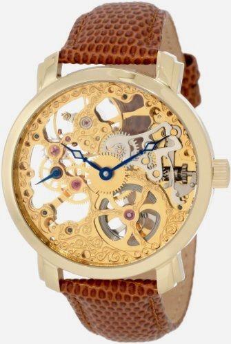 "New! Akribos XXIV Men's AK406YG ""Bravura Davinci"" Skeleton Watch https://www.myskeletonwatches.com/product/akribos-xxiv-mens-ak406yg-bravura-davinci-skeleton-watch/ #Akribos #TimePiece"