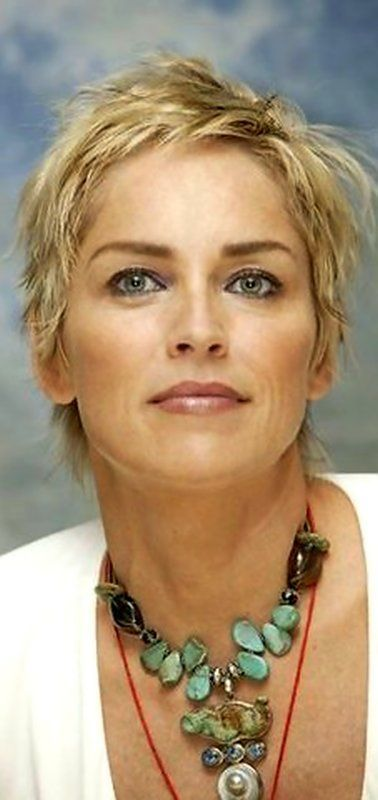 Resultado de imagen de sharon stone pixie hair mentor for Coupe de cheveux sharone stone